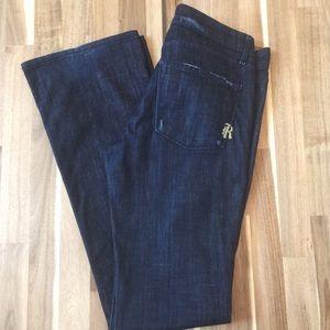 Women's Rich & Skinny Distressed Dark Rinse Jeans